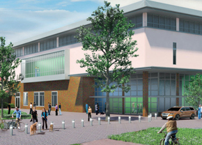 Artist's rendering of facility upgrades planned by the University of California, Davis, School of Veterinary Medicine