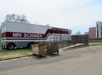 University of Wisconsin School of Veterinary Medicine MRI scanner housed in a trailer
