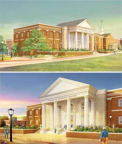 Artistic rendering of Long Island University